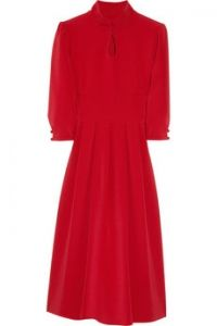 Giulietta  Silk-blend crepe dress
