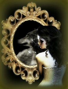 Fantasy Wolf, Fantasy Art, Love Art Images, Wolves And Women, Gothic Metal, She Wolf, Wolf Spirit, Anubis, The Witcher