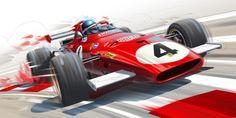 J.Ickx, Ferrari 312B par Guillaume Lopez