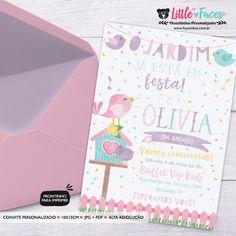Convite Aniversário Passarinhos para imprimir Personalized Invitations, Invitation Birthday, Little Birds, Fiesta Party, Events