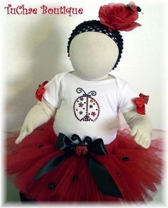Ladybug Tutu Birthday and Special Occasions by TuChaeBoutique, $32.50