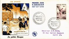 DR JIM STAMPS SPORTS BASQUE PELOTA FRANCE FIRST DAY ISSUE COVER 1956 | eBay