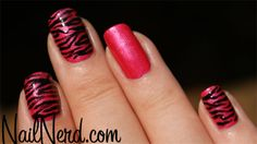zebra nails | Nail Nerd (nail art for nerds) » Pink Zebra Nails