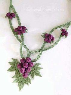 Needle Lace, Textiles, Lace Flowers, Knots, Crochet Necklace, Jewelry, Textile Jewelry, Crocheting, Boyfriends