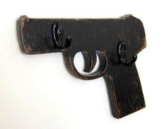 gun key hook organizer wood retro vintage style by OldNewAgain, $42.00