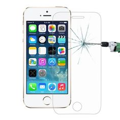 [$0.58] For iPhone SE & 5 & 5S & 5C 0.26mm 9H Surface Hardness 2.5D…