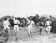 Ethiopian Scouts of the Southern Army under Ras Desta return to their camp on 30 June 1935 (Sene 1927 E.C) from an expedition far into the front lines
