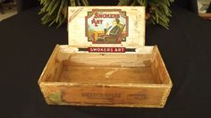 Antique Vintage Smokers Art Escepcionales 5 cent Cigar Box - could also use for wine if big enough