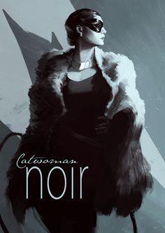 KAORÉCUARO : Catwoman Noir by Henrik Sahlstrom, bumhand