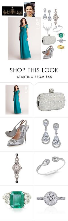 """2023 - Archduchess Gabriella of Austria Wedding"" by dezac-novaes on Polyvore featuring moda, Alexander McQueen, Dolce&Gabbana, Van Cleef & Arpels, Eliot Danori, Tissot, Forzieri, Tiffany & Co. e Ultimate"