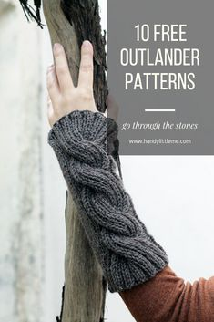 Take a look at this collection of Outlander knitting patterns and choose your next project. All of the patterns are available as free printables. If you are a fan of the Outlander TV series or Outlander Jamie, then take a look! Outlander Knitting Patterns, Knitting Patterns Free, Free Knitting, Crochet Patterns, Easy Knitting Projects, Knitting Designs, Fingerless Mitts, Wrist Warmers, How To Purl Knit