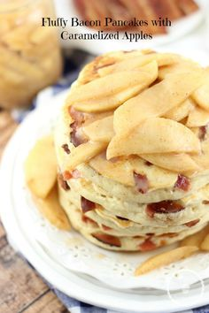 Fluffy Bacon Pancakes With Caramelized Apples