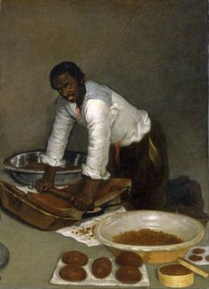 """laclefdescoeurs submitted to medievalpoc:"""" Anonymous Spanish A Man Scraping Chocolate circa Oil on canvas """""""" 41 x 28 in. x cm) X """" Black History, Art History, History Of Chocolate, Spanish Artists, French Art, Light And Shadow, Love Art, Art Museum, Oil On Canvas"""