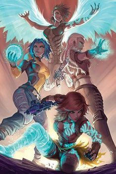 r/gaming - Sirens (Artist: Quirkilicious) [Borderlands] Fantasy Character Design, Character Concept, Character Inspiration, Character Art, Concept Art, Borderlands Series, Borderlands Art, Tales From The Borderlands, Borderlands Tattoo