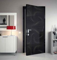 Forrar un puerta con papel pintado nos dará este resultado!! Que bonito! https://papelvinilicoonline.com/es/blog/decorar-muebles-con-papel-pintado-n49