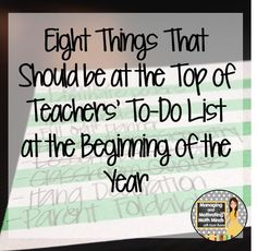 Easy and important ideas to think about as we get ready to go back to school! Beginning of the year ideas.