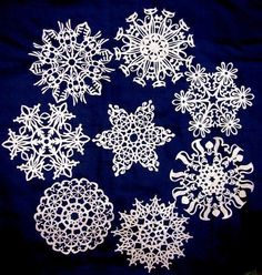 DIY snowflake, 25 patterns
