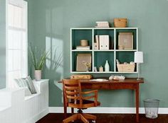 good shelf design for business files. Place a wind chime or a plant near the window to ensure that nothing threatening enters through the window. Bamboo and cactus symbolize good fortune.  The sharp leaves  warn off harmful influences.