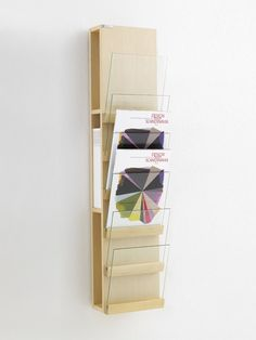 Wall-mounted display unit for brochures FRONT | Glass display unit - Karl Andersson & Söner