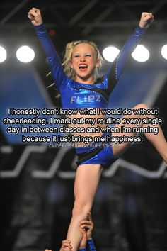 It's been 7 years since I've been on a competition floor or a track and I STILL catch myself marking my old routines and coming up with new ones. One day I'll own a gym:) cheer brings me happiness❤