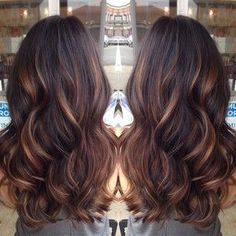 Dark brown hair with highlights Check out the website to see more