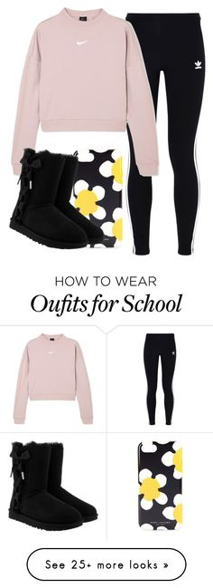 """""""I'm sick and I have to go to school"""" by ambyclark on Polyvore featuring Marc Jacobs, adidas Originals, NIKE and UGG"""