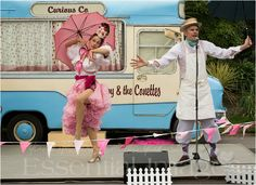 Mr Wippy and The Conettes - Curious Company Ice Cream Van, Theatre Shows, Vintage Ice Cream, Hollywood, Coat, Jackets, Fashion, Down Jackets, Moda