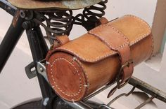 Handmade Bicycle Leather Tool Bag Saddle Bag Seat Bag mxs Thick Natural VEG Tan   eBay