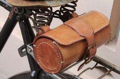 Handmade Bicycle Leather Tool Bag Saddle Bag Seat Bag mxs Thick Natural VEG Tan | eBay