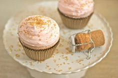 Pink Champagne Cupcakes for Two
