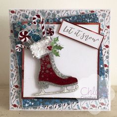 Made using the brand Christmas Collection from Chloe. Available in the US on HSN on August and in the UK in September Chloes Creative Cards, Creative Christmas Cards, Homemade Christmas Cards, Christmas Décor, Christmas Cards To Make, Xmas Cards, Homemade Cards, Handmade Christmas, Holiday Cards