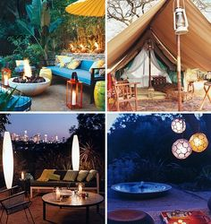bonfire party ideas kids   Inspiring Outdoor Rooms and Lighting in Domino magazine   At Home with ...