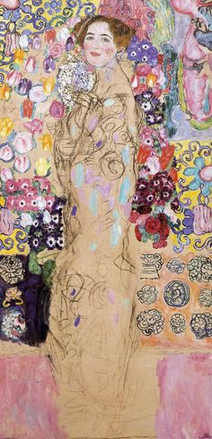 Portrait of Maria Munk (unfinished) - Gustav Klimt