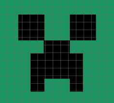 Minecraft Creeper Crochet Graph/Chart Pattern
