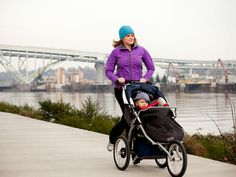 """Start a Cardio Regimen: """"Jogging strollers are great—babies love them and they'll usually sleep."""" #newmomsworkout"""