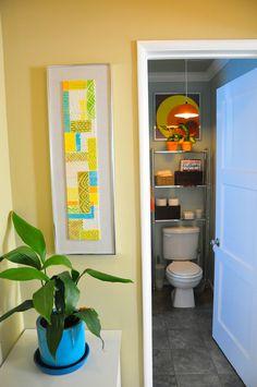 Paint colors that match this Apartment Therapy photo: SW 6961 Blue Beyond, SW 7062 Rock Bottom, SW 7022 Alpaca, SW 6136 Harmonic Tan, SW 6395 Alchemy