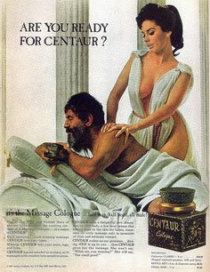 "Original vintage 1967 advertisement for Centaur Massage Cologne. Art print ad of a beautiful Greek woman massaging a man. ""Are you ready for Centaur? Old Advertisements, Retro Advertising, Retro Ads, Vintage Ads, Vintage Posters, Perfume Ad, Vintage Perfume, Propaganda Coca Cola, Pin Up"