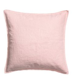 Light pink. PREMIUM QUALITY. Cushion cover in washed linen fabric with a concealed zip.