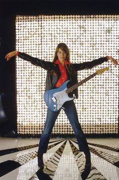 Francoise Hardy et Fender Strat