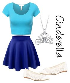 """""""Cinderella"""" by jacieschultz ❤ liked on Polyvore featuring LE3NO, Soludos and Disney"""