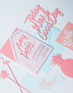 Modern summer wedding invitations | Wedding & Party Ideas | 100 Layer Cake
