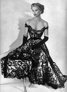 Dress by Hattie Carnegie 1951  by dovima_is_devine_II, via Flickr