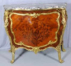 174: 18TH C. FRENCH LXV BOMBE COMMODE, SIGNED ON THE BA : Lot 174