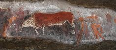 Game Pass Shelter is commonly referred to as the 'Rosetta Stone' of South African rock art, it was here that archaeologists first uncovered a vital key to understanding the symbolism of the San Bushman rock art paintings. African Paintings, Art Paintings, Sans Art, South African Art, Art Sites, Human Art, Aboriginal Art, Ancient Art, Rock Art