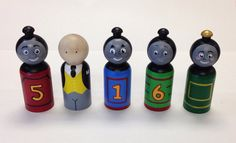 Hey, I found this really awesome Etsy listing at https://www.etsy.com/listing/186182189/thomas-the-train-peg-dolls-5pc-set