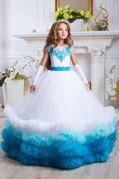 Turquoise Flower Girl Dresses - Turquoise Dress Girl, Fairy Dress Beach Wedding Blue Flower Girl Dre