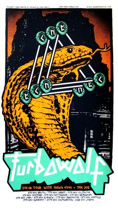 Jacknife Posters — Turbowolf 2011 Tour