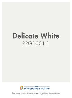 Atrium White from PPG Pittsburgh Paints. Whites should only be intentional, not used as default colors. This is a pure and serene white that is both peaceful and clean - an ideal paint color choice for spaces that brighten, inspire and stimulate. Off White Paint Colors, Mint Paint, Off White Paints, Paint Colors For Home, Paint Colours, Most Popular Paint Colors, Ppg Paint, Paint Color Palettes, Painting Trim