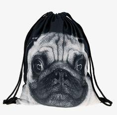 Pug (noir et blanc)