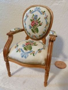 .miniature needlepoint chair